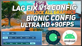 PUBG LAG FIX WITH CONFIG | LOW END DEVICE LAG FIX | UNLOCK ULTRA HD +90FPS