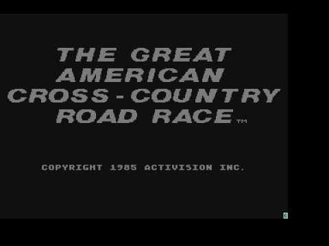The Great American Cross-Country Road Race Review For The Atari XL / XE By John Gage