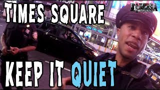 Moto Photos in Times Square and the NYPD Shows