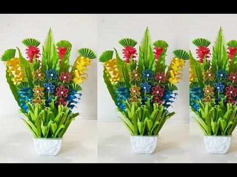 Room Decoration Idea/Make Paper Flower Bouquet/Handmade Floral Flower Bouquet/wedding Flower Bouquet