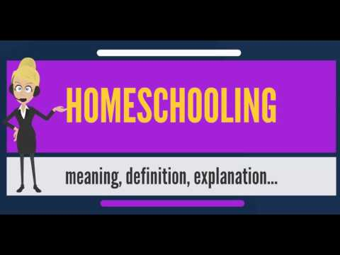 What is HOMESCHOOLING? What does HOMESCHOOLING mean? HOMESCHOOLING meaning & explanation