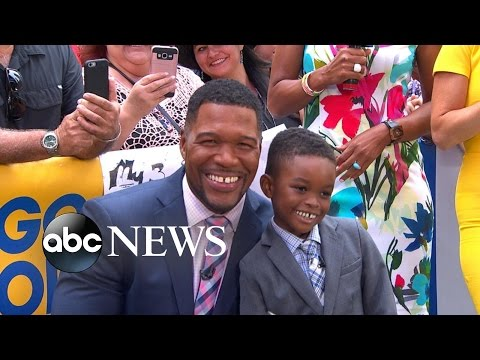 Ethan Barrett, the 'Mini Michael Strahan,' Appears Live on 'GMA'