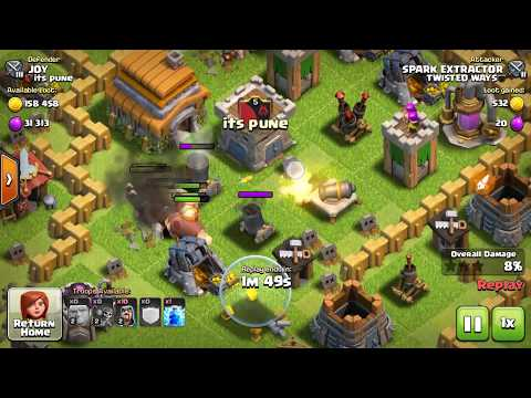 100% Best Attacking Strategy For Th5 In CLASH OF CLANS .