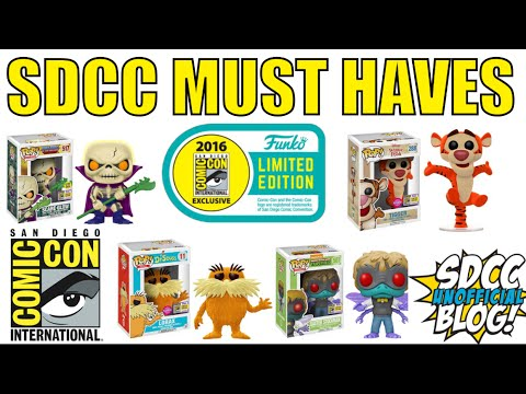 SDCC 2017 EXCLUSIVE FUNKO POP WISH | Updated Shared List