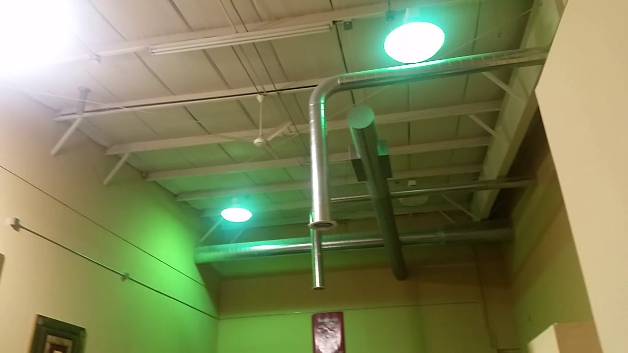 Adding Uplights, Demonstrating Fans And Metal Halide Lights In A Church