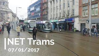 NET Nottingham Trams City Centre - 07/01/2017