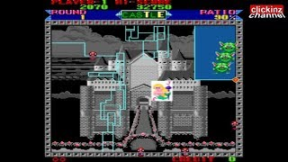 Super Qix (Taito 1987) Arcade Gameplay Classic Video Game Juego Retro MAME Emulator