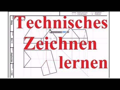 Technisches Zeichnen Lernen Beispiel Haus Mit Nebengebaude