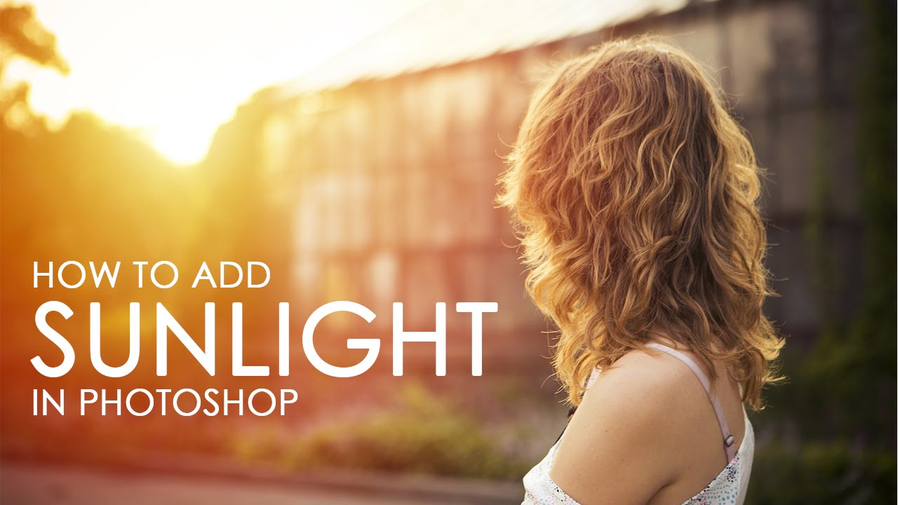 how to remove sunlight in photoshop