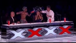 Danger Act Gone Wrong ALL HELL BRAKES LOOSE on LIVE TV!!! America's Got Talent 2017