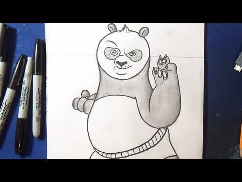 Comment dessiner kung fu panda youtube - Panda a dessiner ...