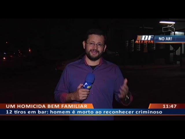 DF ALERTA - 12 tiros em bar: homem é morto ao reconhecer criminoso