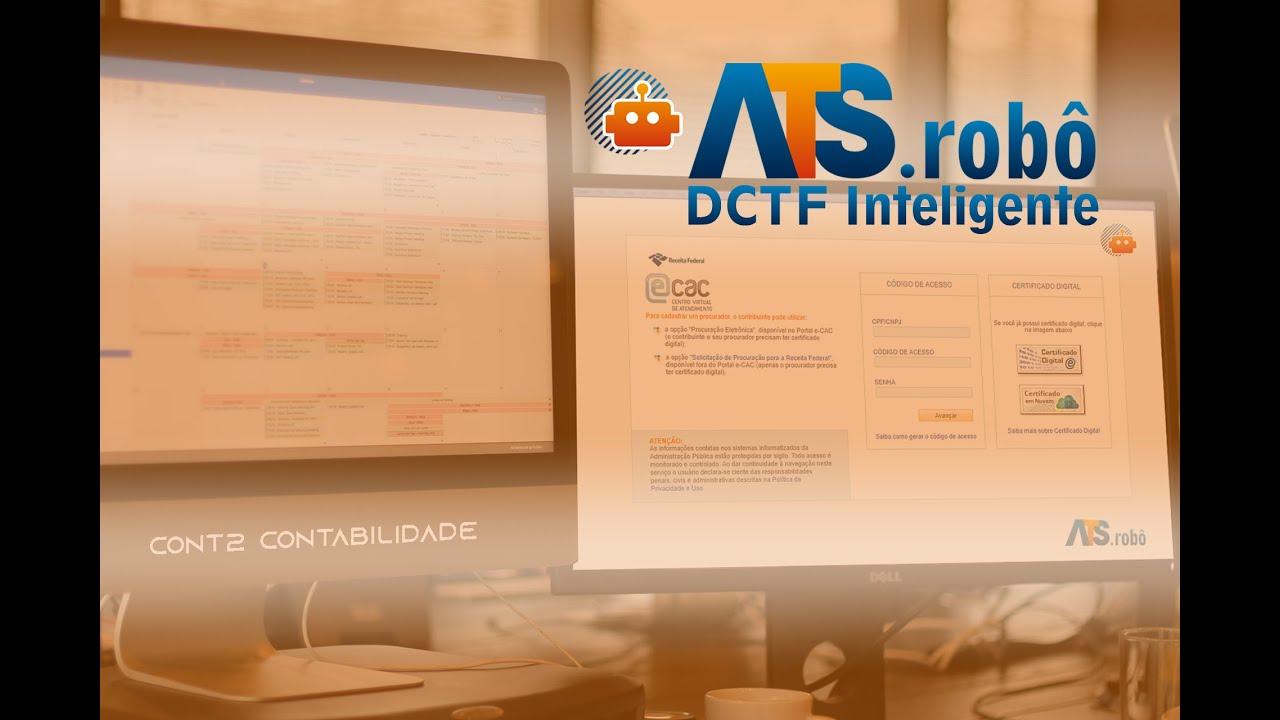 A força de trabalho digital chegou à Contabilidade! Conheça o ATS.robô DCTF Inteligente.
