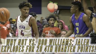 2019 Peach Jam semis: Jalen Green TURNS UP late! | Boo Williams vs. Team Why Not