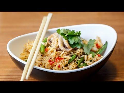 Рис с морепродуктами в мультиварке редмонд