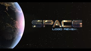 Space Logo Opener Adobe After Effects Template
