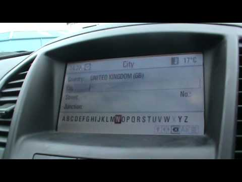 How To Set A Destination On A Vauxhall Insignia Satellite Navigation System