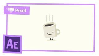 Анимируем кружку кофе в After Effects | уроки для новичков