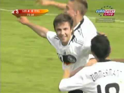 16-year old Mario Götze scores for Germany
