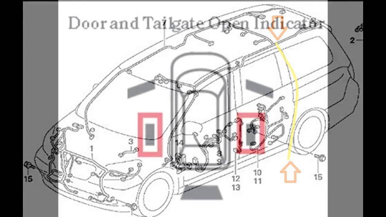 hight resolution of 2007 2010 honda odyssey slide door latch and reset info