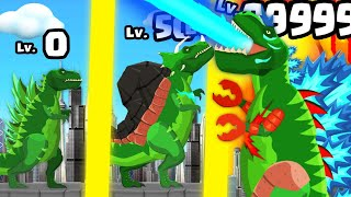 I Evolved In THE STRONGEST T-REX DINOSAUR In Titan Rex: City Rampage