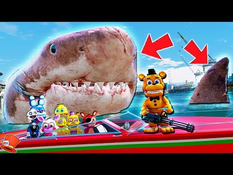 ADVENTURE ANIMATRONICS GET EATEN BY MEGALODON SHARK! (GTA 5 Mods FNAF Kids RedHatter) thumbnail