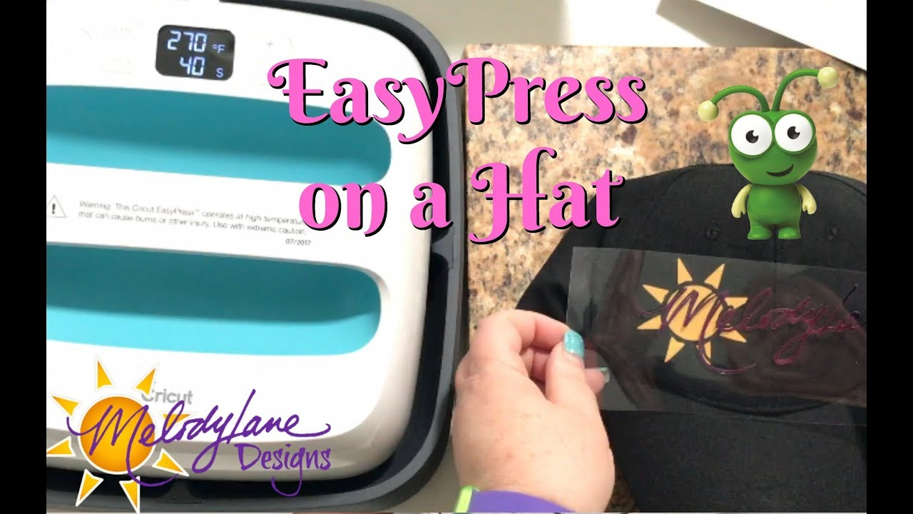 iron on a hat with the cricut easypress best heat press youtube
