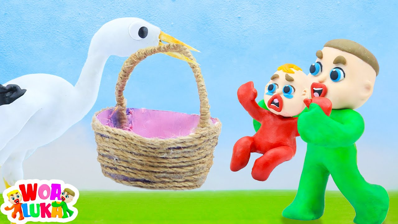 Luka Gives Little Jack to The Stork 🦆 Luka Family and Friends Funny Cartoons For Kids