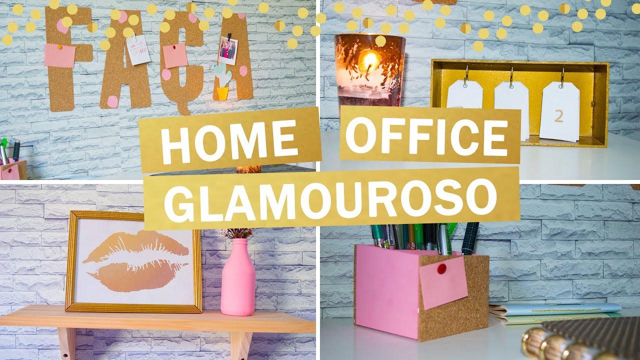 Ideias FÁCEIS E BARATAS De Decoração Para HOME OFFICE   DIY   YouTube