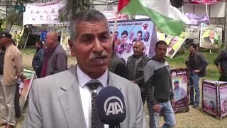 مصر العربية   مسيرة بغزة دعمًا للمعتقلين المضربين عن الطعام في السجون الإسرائيلية