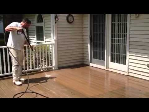 how to clean a composite deck without a power washer