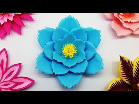 Easy Paper Flower Backdrop Tutorial with Free Template | DIY Large Paper Flowers