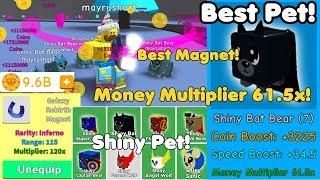Update! New Best Pet Shiny Bat Bear! Galaxy Rebirth Magnet! 9 Billion Token! - Magnet Simulator