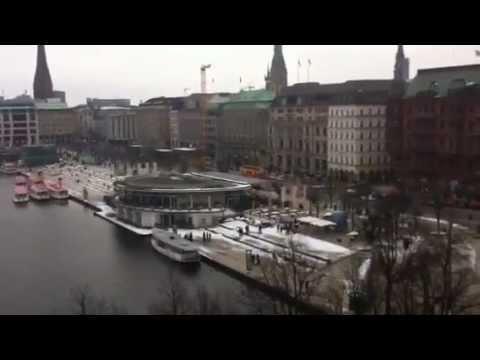 Fairmont Hotel vier Jahreszeiten Hamburg Ausblick 5 Stock Alsterblick Luxushotel