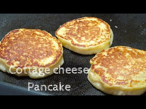 How to make fluffy Cottage cheese Pancake / Recipe ふわふわカッテージ