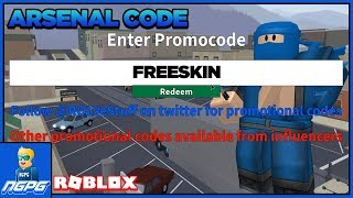 FREE SKIN CODE FOR ROBLOX ARSENAL!