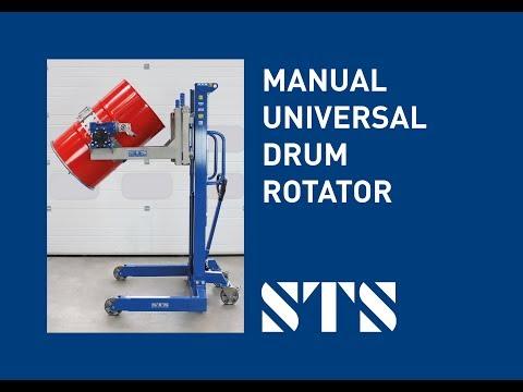 Universal Drum Rotator - Manual-Hydraulic Lift (Model: STM01-DRU01)
