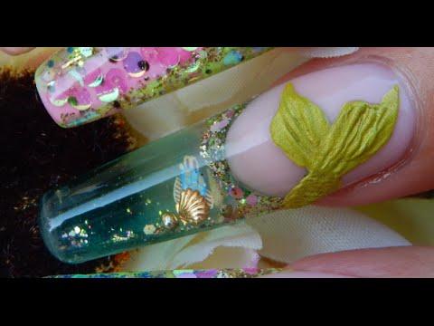 acrylic nails aquarium nail