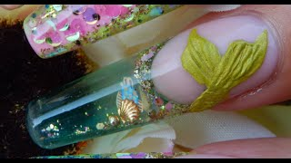 New Aquarium Nails IN MOTION !! -----Yes , Aquariums in MOTION - (GELS )