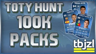 FIFA 14 Ultimate Team - TOTY HUNT Pack Opening (100K PACK!)