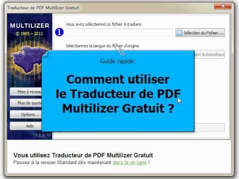 comment utiliser le traducteur de pdf multilizer gratuit guide rapide vid o en fran ais. Black Bedroom Furniture Sets. Home Design Ideas