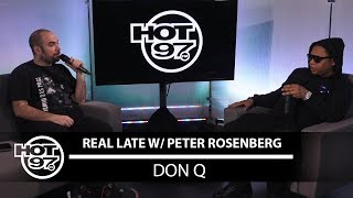 Don Q Talks to Peter Rosenberg about Don Talk, A Boogie, Pusha T, and More