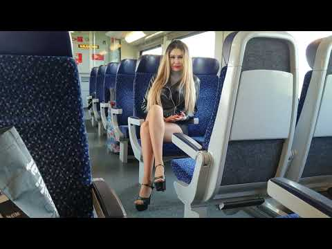 Granate Styling, Train Ride, Very High Heels, Short Skirt, Fishnet Tights