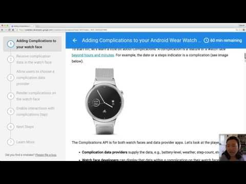 Android Wear Complications Code Lab (Live stream)