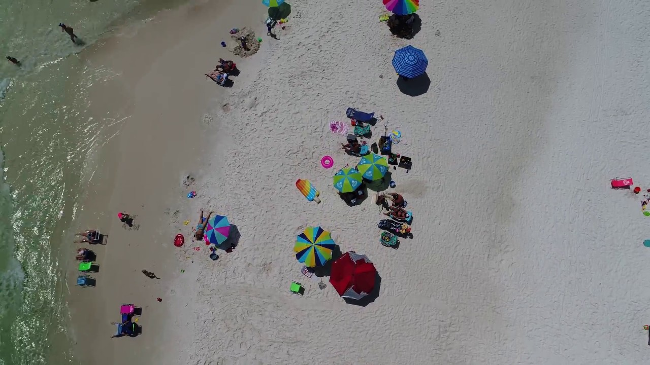 Panama City Beach Sunbathers And Condo From The Drone