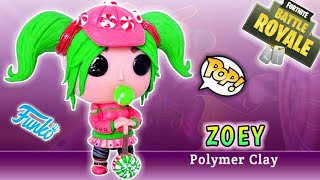ZOEY l FORTNITE | CUSTOM FUNKO POP | Polymer Clay Tutorial