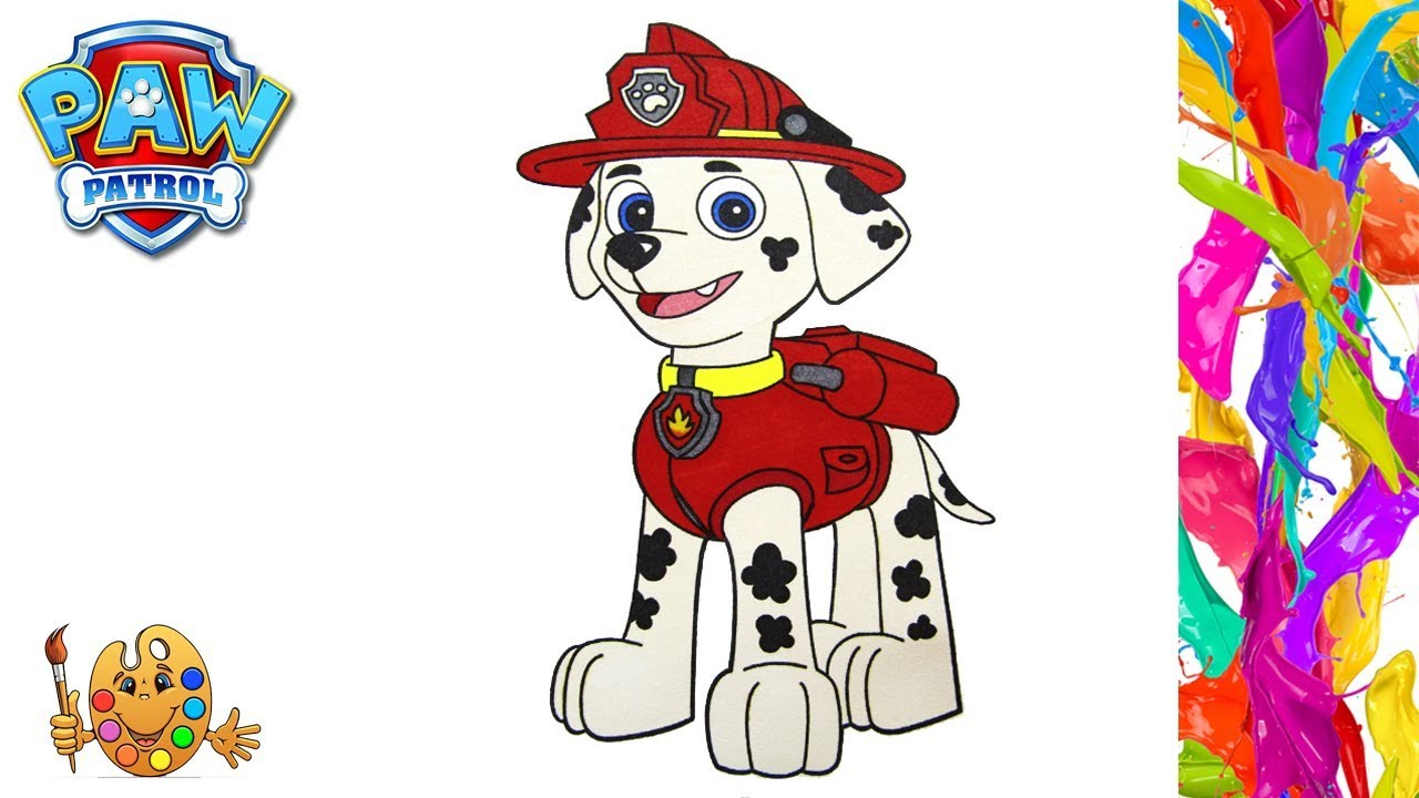 Paw Patrol: Marshall | Coloring pages for kids | Coloring ...