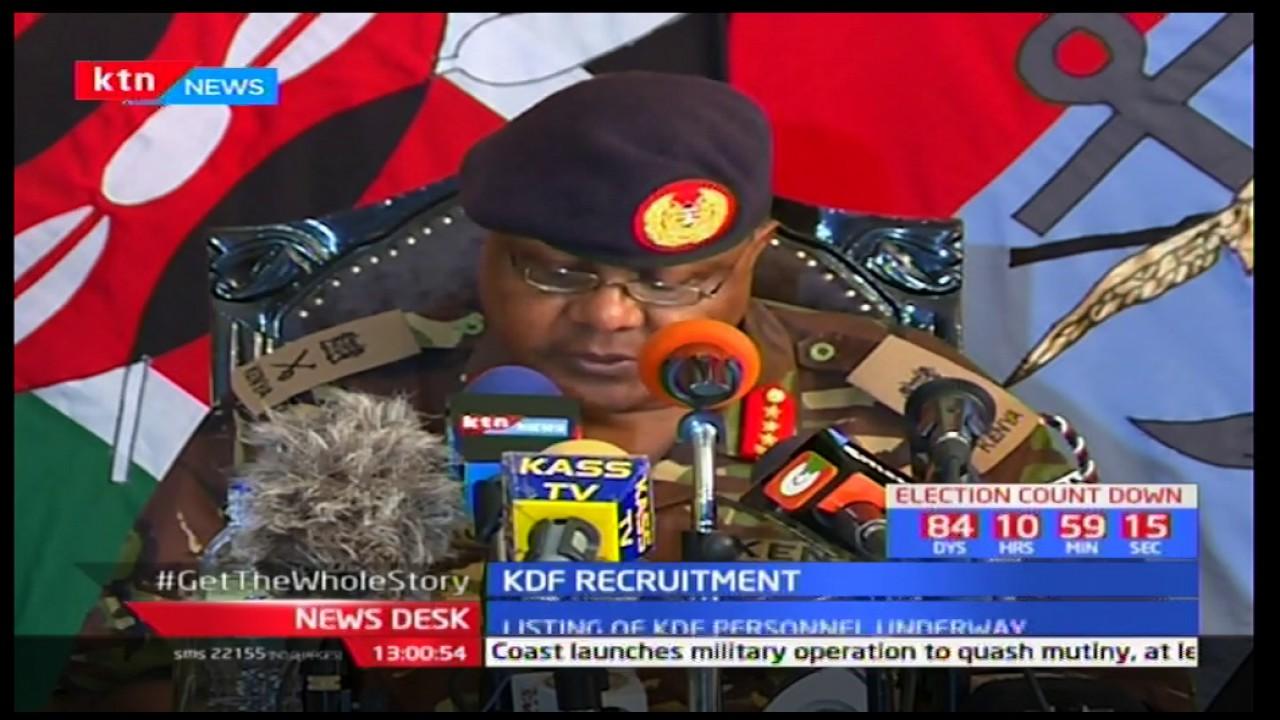 KDF Recruitment 2018 - Kenya Defence Forces Recruitment 2018
