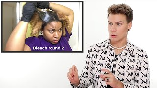 Hairdresser Reacts To Natural Hair Bleaching