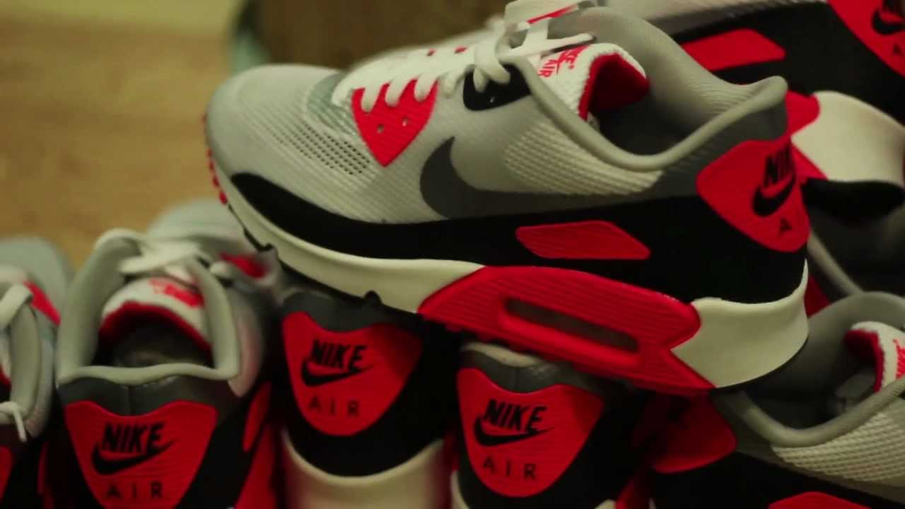 Nike Air Max 90 Hyperfuse Infrared Release Party   Queens Praha - YouTube ac7e0381349